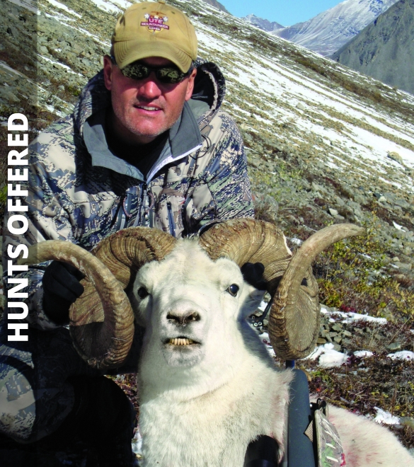 Hunter holding Dall Sheep
